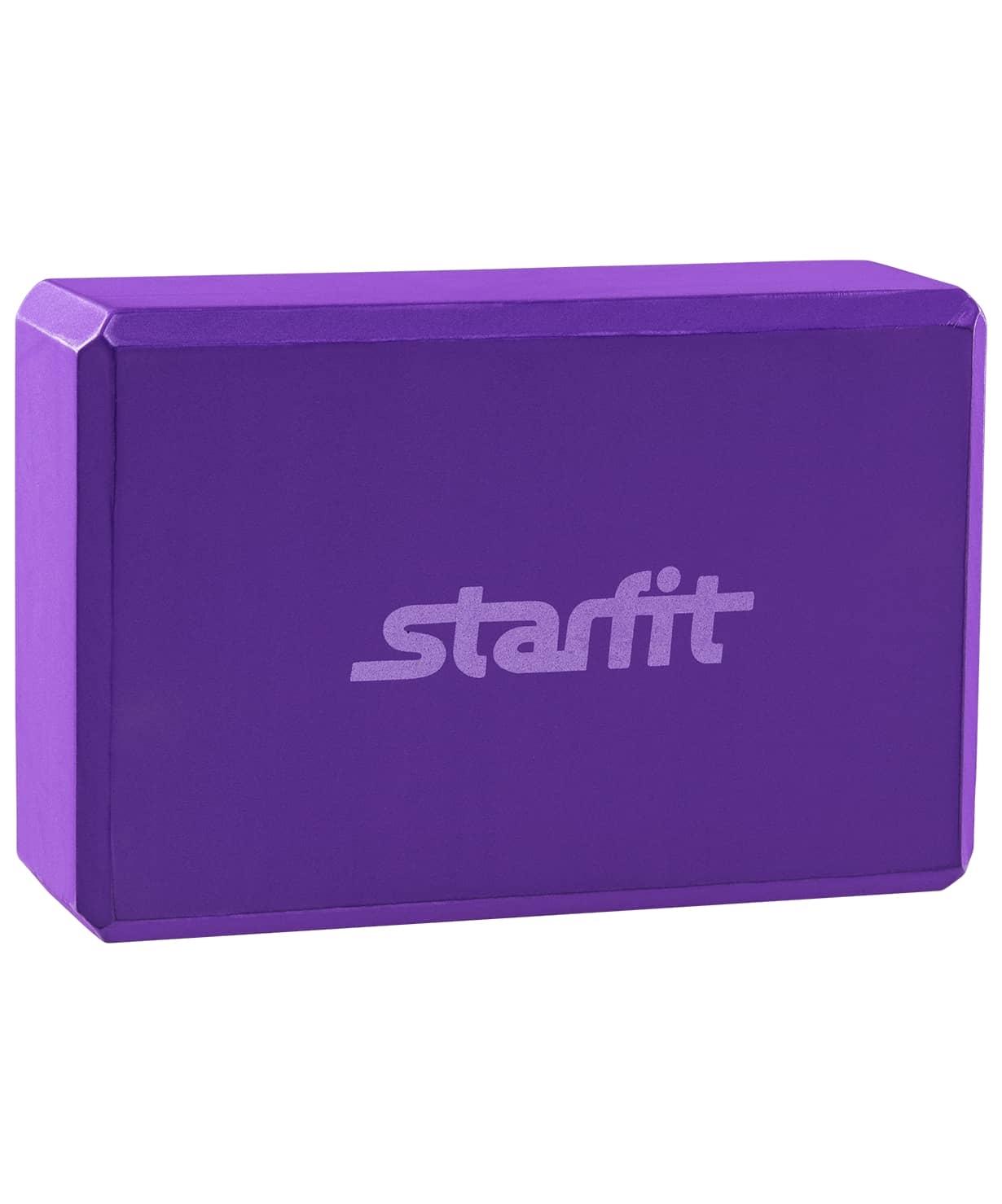 Блок для йоги STARFIT FA-101 EVA, фиолетовый 1/50