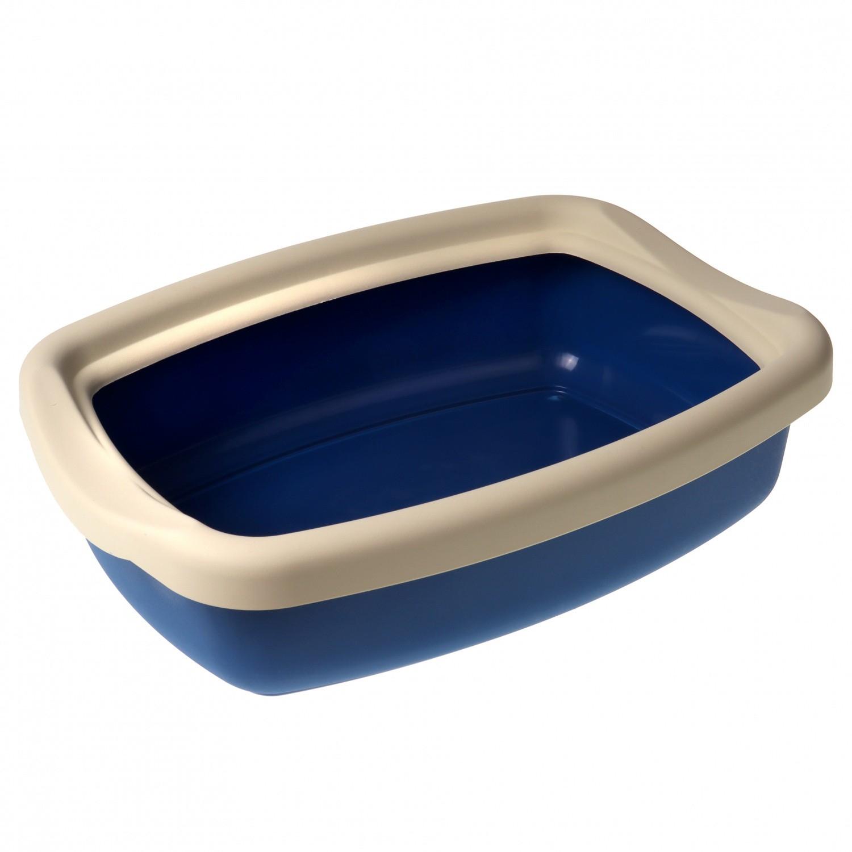 """Туалет для кошек с бортиком """"Твик"""" 31*42*11 Синий"""