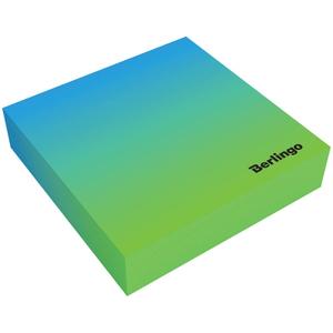 """Блок для записи декоративный на склейке Berlingo """"Radiance"""" 8,5*8,5*2, голубой/зеленый, 200л."""