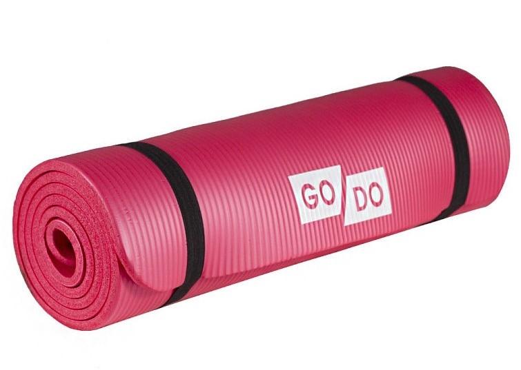 Коврик для йоги и фитнеса. Цвет: красный: RED К6010