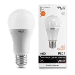 Лампа Gauss LED Elementary A60 12W E27 2700K