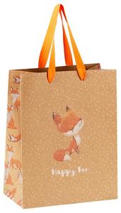 """Пакет подарочный 18*23*10см MESHU """"Happy Fox"""", крафт"""
