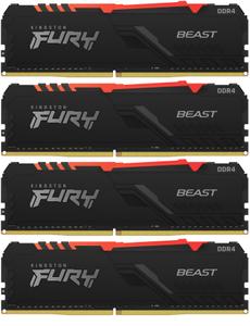 Оперативная память Kingston FURY [KF432C16BB1AK4/64] RGB 64 Гб DDR4