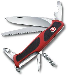 Нож перочинный Victorinox RangerGrip 55 (0.9563.C) 130мм 12функций красный/черный карт.коробка