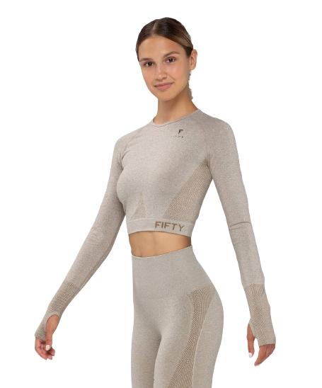 Женская футболка с длинным рукавом Emphatic beige FA-WL-0203-BEG, бежевый