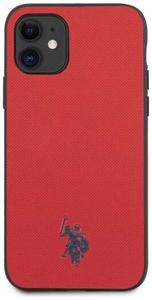 Чехол U.S. Polo Assn. для iPhone 11 Wrapped PU Embossed logo Hard Red