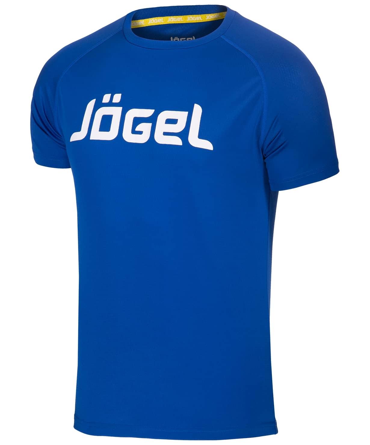 Футболка тренировочная JTT-1041-079, полиэстер, синий/белый