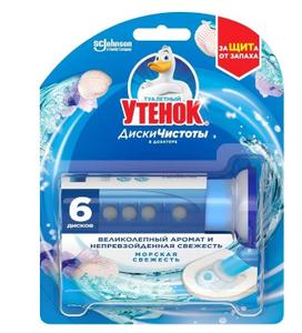 Диски для унитаза Морская свежесть 6шт Туалетный утенок