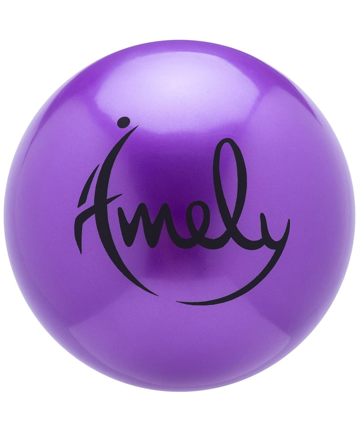 Мяч для художественной гимнастики AGB-301 19 см, фиолетовый