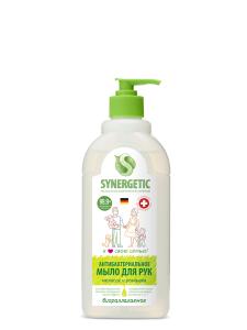 Мыло жидкое Мелисса и ромашка, чистота и ультразащита 99,9% 0.5л Synergetic