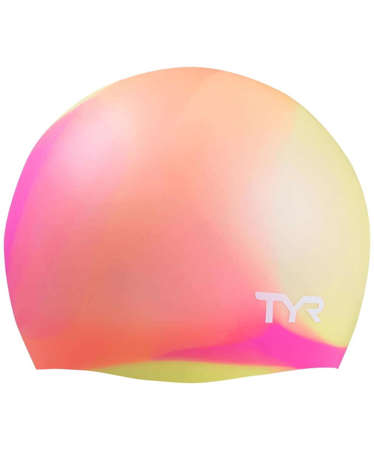 Шапочка для плавания Tie Dye Junior Swim Cap, силикон, LCSJRTD/173, оранжевый