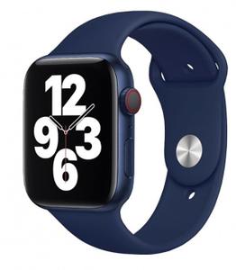 Ремешок силиконовый «vlp» Silicone Band для Apple Watch 42/44 мм, темно-синий