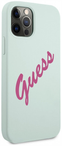 Чехол накладка Guess для Apple iPhone 12/12 Pro голубой
