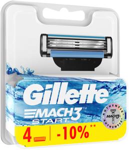 Сменные кассеты для бритья 4шт MACH3 Start GILLETTE