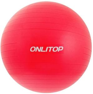 """Мяч для фитнеса """"Anti-burst GYM BALL"""" матовый. Диаметр 65 см: FB-65 (Малиновый)"""
