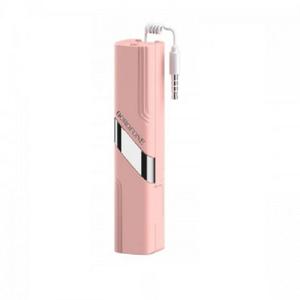 Монопод (палочка селфи) Borofone BY3 3.5mm wired remote control selfie stick pink