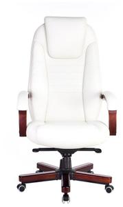 Кресло для руководителя Бюрократ T-9923WALNUT белый