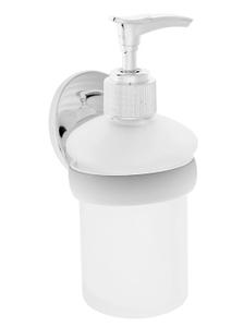 Дозатор для жидкого мыла настенный Accoona 200 мл, стекло, цвет хром