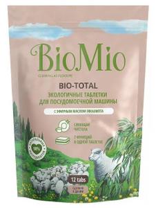 Таблетки для посудомоечной машины с маслом эвкалипта 12шт BioMio