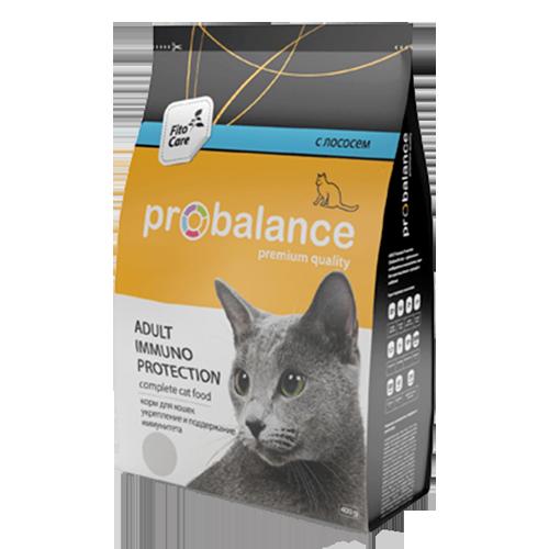 "Сухой корм для кошек ProBalance ""Immuno Protection"" с лососем 16 шт. х 400 г"