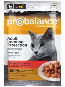 Консервированный корм ProBalance Immuno Protection с говядиной в соусе 85 г., (25 шт. в уп.)