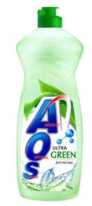 Средство для мытья посуды Ultra Green 900мл. AOS