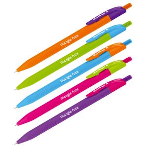 """Ручка шариковая автоматическая Berlingo """"Triangle Fuze RT"""", синяя, 0,7мм, трехгранный корпус"""