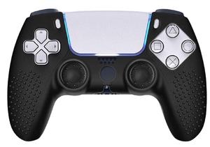 Аксессуар PS5  Защитная силиконовая Черная накладка-чехол для джойстика Sony Playstation 5 Картофан