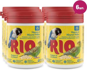 RIO / Витаминно - минеральные гранулы для волнистых и средних попугаев 120 гр. ( 6 шт. в уп.)