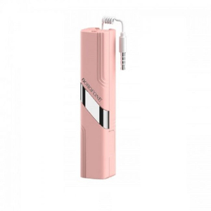Монопод (палочка селфи) Borofone BY3 3.5mm wired remote control selfie stick pink