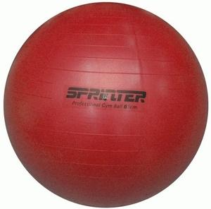 """Мяч для фитнеса """"Anti-burst GYM BALL"""" матовый. Диаметр 65 см: FB-65 (Красный)"""