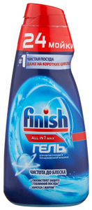 Гель для мытья посуды в посудомоечной машине All in1 MAX 600мл Finish