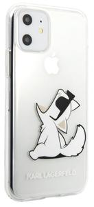 Чехол Lagerfeld для iPhone 11 PC/TPU collection Choupette Fun Hard Gradient Transp