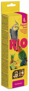"RIO / Лакомство для средних попугаев ""Палочки"" с тропическими фруктами 150 гр."