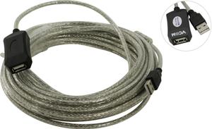 VCOM < VUS7049-10м> Кабель удлинительный активный USB2.0-repeater A--> A 10м