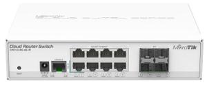 Коммутатор MikroTik < CRS112-8G-4S-IN > Маршрутизатор (8UTP / WAN 10 / 100 / 1000Mbps + 4SFP)