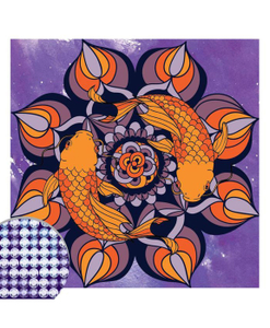 Алмазная вышивка мандала «Рыбки» с частичным заполнением 20х20см Школа талантов