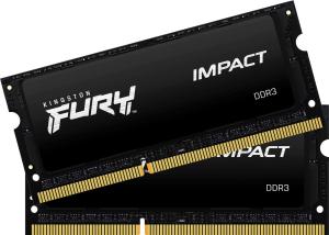 Оперативная память Kingston FURY Impact [KF318LS11IBK2/8] 8 Гб DDR3