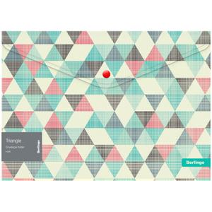 """Папка-конверт на кнопке Berlingo """"Triangle"""", 180мкм, с рисунком"""