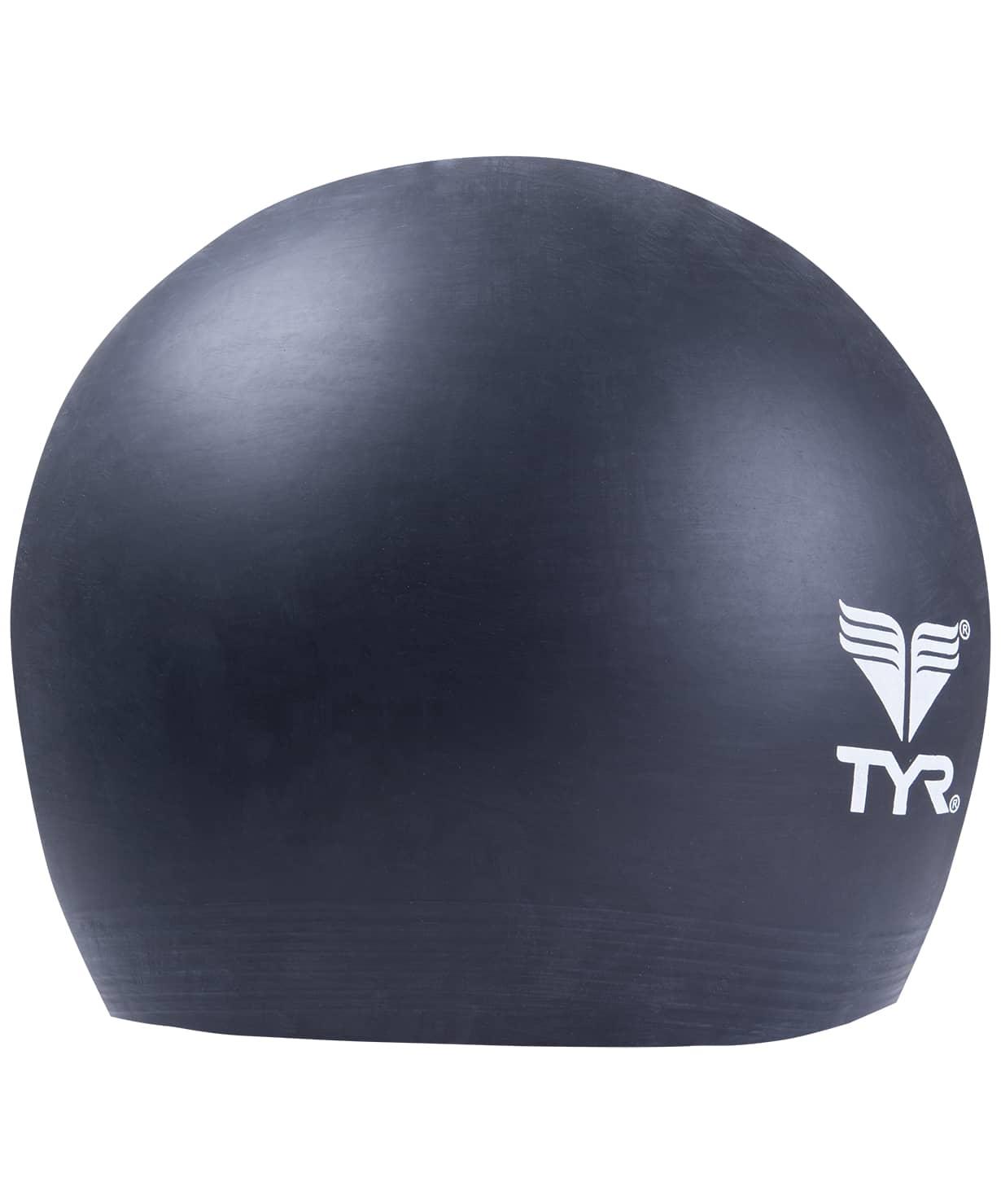 Шапочка плавательная Latex Swim Cap, латекс, LCL/001,  черный