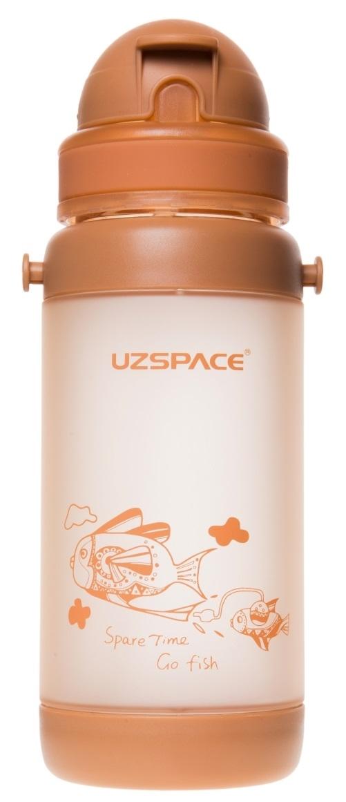 Бутылка для спорта UZSPACE Shoulder Straps, 320ml (3039) (Коричневый)