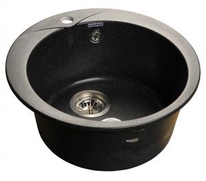 Мойка мрамор GRANFEST RONDO GF-R--480  D=475 мм  черный  арт.GF-