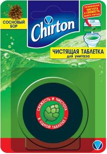 Чистящая таблетка для унитаза Сосновый Бор 2*50г Chirton