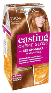 Краска-уход для волос Casting Creme Gloss 7304 Пряная карамель L'Oreal Paris