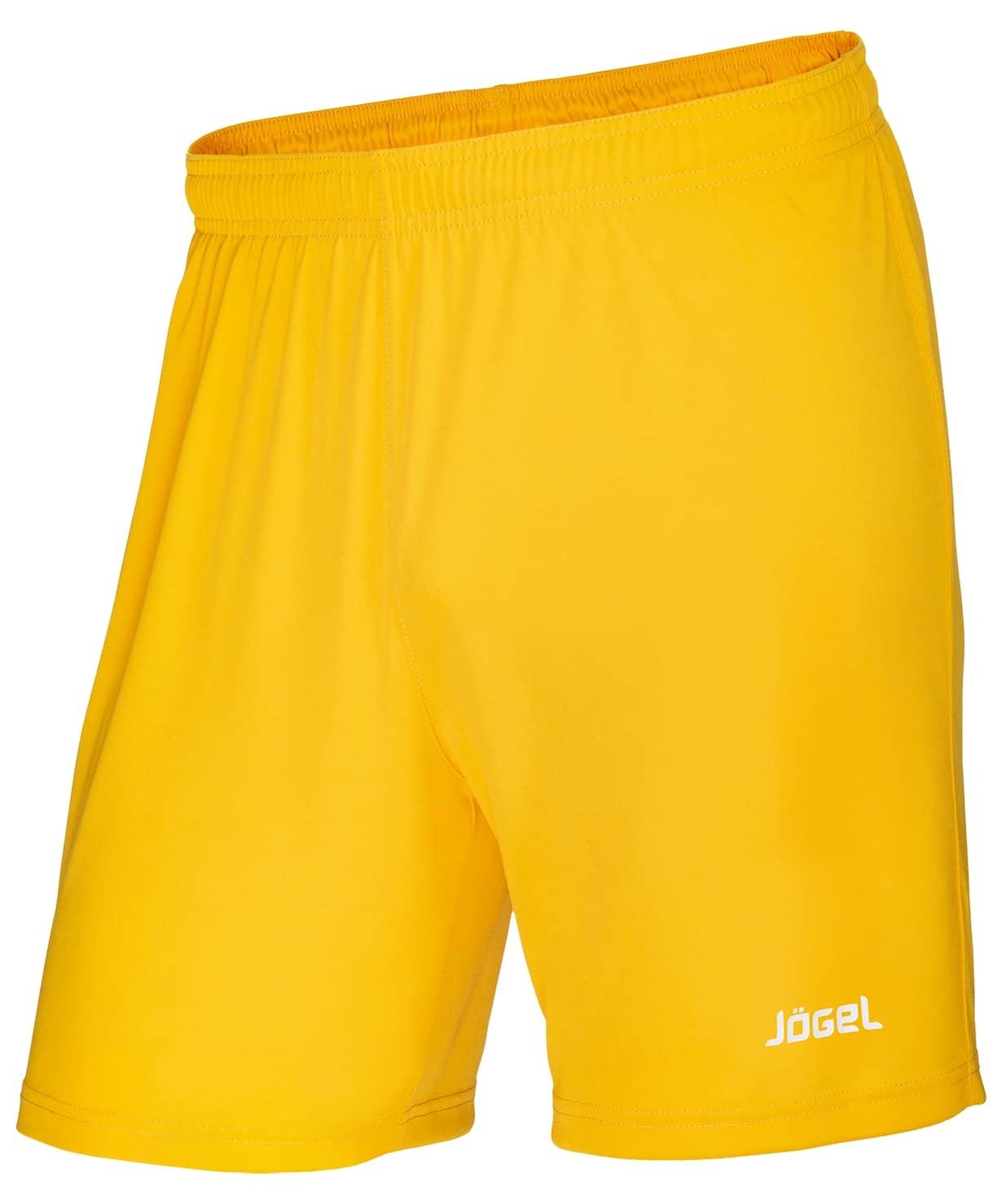 Шорты футбольные JFS-1110-041, желтый/белый, детские