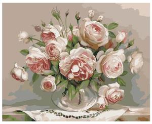 Картина по номерам «Пионовидные розы» 40×50 см
