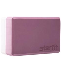 Блок для йоги STARFIT YB-201 EVA, 22,8x15,2x10 см, 350 гр, пыльная роза