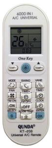 ПДУ универсальный для  AIR CONDITIONER 6000in1 KT-E08 QUNDA блистер