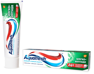 Зубная паста мягко-мятная 100мл Aquafresh