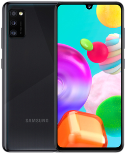 Защитное стекло Ainy для Samsung Galaxy A41 Full Screen Cover с полноклеевой поверхностью черное